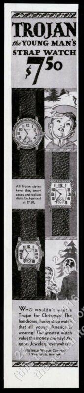 1929 Trojan watch Boy Scouts scout salute art Christmas vintage print ad