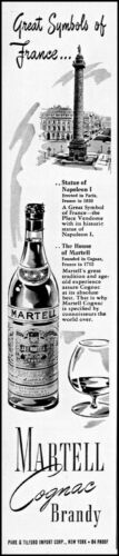 1949 France great symbols Martell cognac brandy vintage art print ad adL61