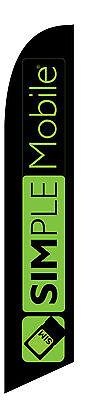 New Custom Simple Mobile Feather Banner Swooper Flag - Simplemobile New Logo