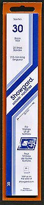 Showgard Stamp Mounts Size 30/215 BLACK Background Pack of 22
