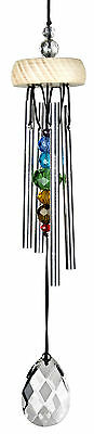Gem Drop Prism Wind Chime Multi Gem Color Crystal Red Blue Green
