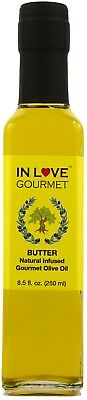 Butter Natural Flavor Infused Gourmet Olive Oil, Awesome Buttery Flavored oil