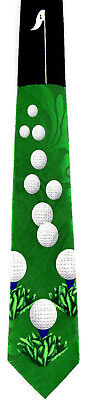 Hole in One Mens Necktie Golfing Clubs Ball Golf Balls Sports Gift Neck Tie New - Hole In One Gift