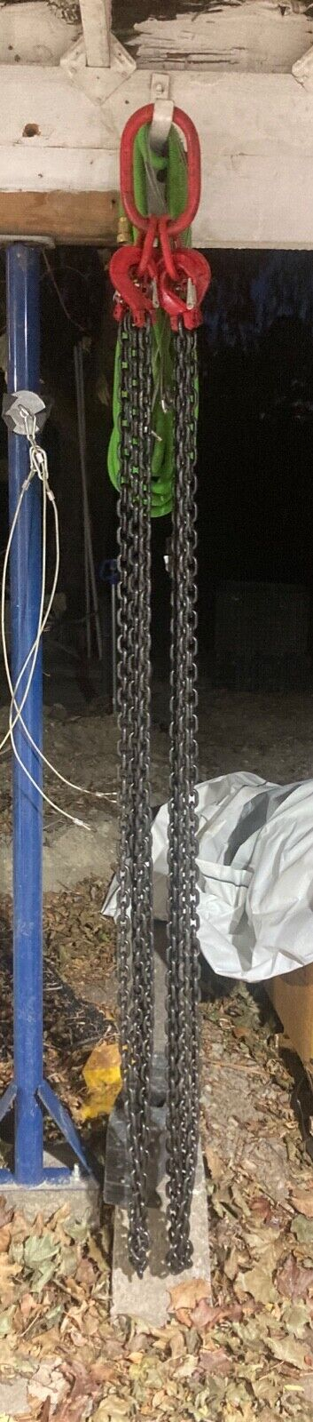 5/16 8mm G100 Chain Sling 12 Ft. 4-Leg Clevis Sling Hook W/Latch  - $222.00
