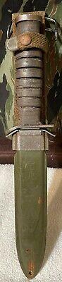 Vintage WWII M3 Trench Knife w/ Scabbard