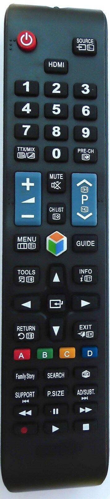 Ersatz Fernbedienung f. Samsung AA59-00581A LED Fernseher 3D TV Smart AA5900581