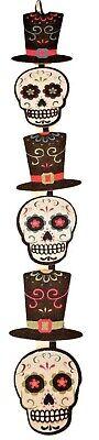 Day of the Dead Sugar Skull Hanging Wall Door Sign, 4