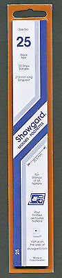 Showgard Stamp Mount Size 25/215 mm - BLACK (Pack of 22) (25x215  25mm) STRIP
