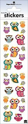 Colorful Woodland Owls Birds Stickers Envelope Seals Planner Supply Papercraft