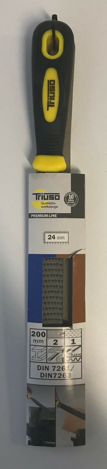 Kombi-Raspelfeile, flachstumpf - TRIUSO - F204, flachstumpf, 200 mm 1000-864-D