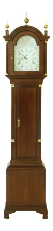 51766EC: Cherry Tall Case Grandfather Hall Clock