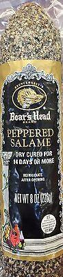 8oz Boar's Head Peppered Salame Chub Dry Cured Salami segunda mano  Embacar hacia Argentina
