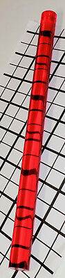 1 Pc 34 X 18 Inch Long Clear Translucent Red Acrylic Plexiglass Rod 19mm Dia.