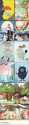 Moomin Muumi Tove Jansson Finland Mint Postcards 10 Pieces