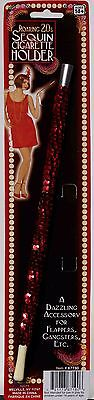 - Red Sequin Cigarette Holder Halloween Costume Accesory Flapper Gangster 20s B307