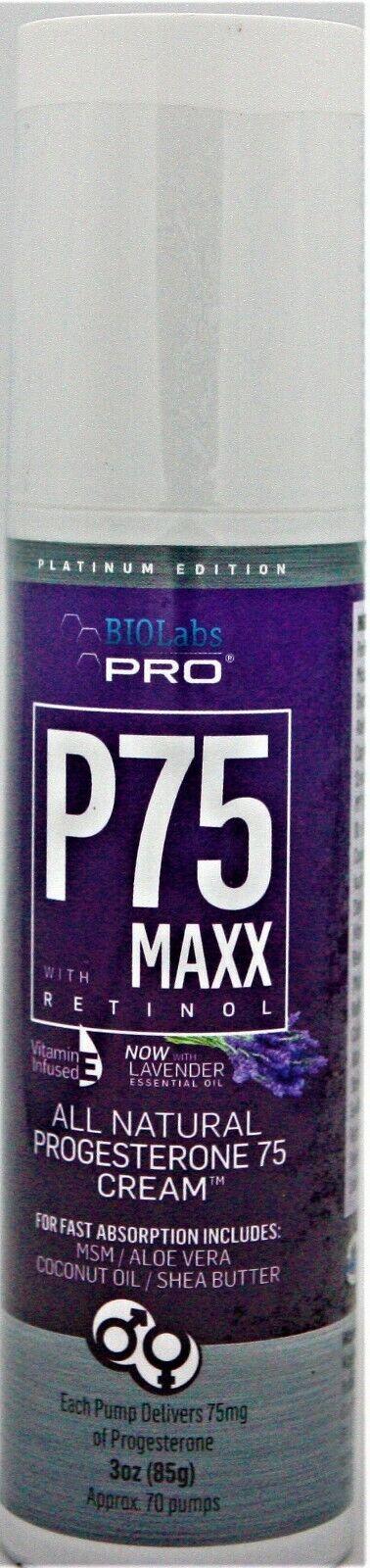 w retinol all natural progesterone 75 cream