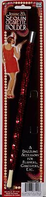 - Red Sequin Cigarette Holder Flapper Costume Accessory New by Forum