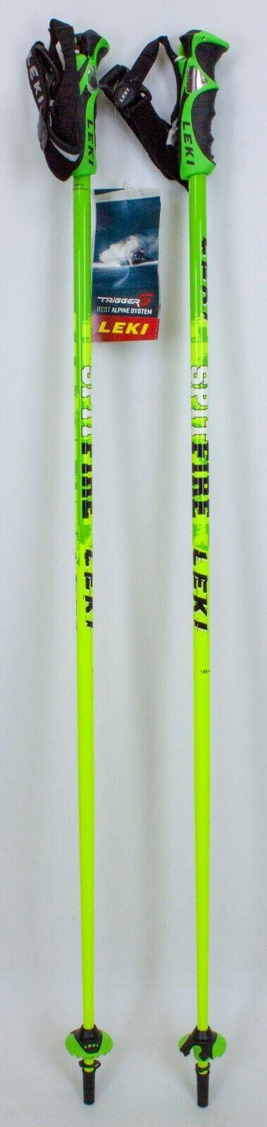 "как выглядит NEW 130 LEKI Spitfire Trigger S Compatible Ski Poles 105CM 42"" Downhill Skiing фото"
