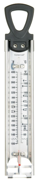 Kitchen Craft Stainless Steel Heavy Duty Jam, Preserve & Frying Thermometer