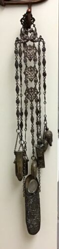 Antique Chatelaine - For the Lady of the Manor   German 800 Silver
