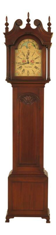 46591EC: COLONIAL Edison Inst Goddard Townsend Mahogany 5 Tube Grandfather Clock