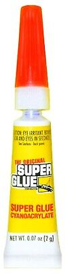 Original Super Glue Tube .07oz Ounce 2g Metal Rubber Fingernail Plastic Adhesive