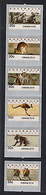 2016 30c Emergency Adelaide CPS 5v strip + one MNH  SCARCE TYPE 3 Modern Rarity
