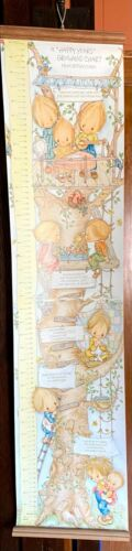 Vintage 1980 Hallmark A Happy Years Growing Chart Betsey Clark   Growth Chart