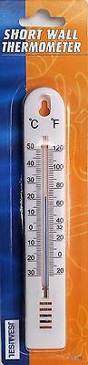 WALL THERMOMETER - INDOOR OUTDOOR GARDEN GREENHOUSE HOME OFFICE ROOM 155