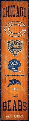 Chicago Bears Heritage Banner Wood Sign 6