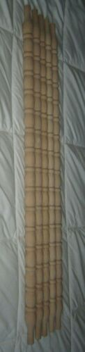 "Lot of 10=NEW UNFINISHED ARCHITECTURAL Wood Turned SPINDLES 27 3/8"" Balusters"