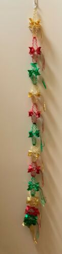 Garland,Foil,Mylar,Vintage,Christmas,1 Strand,Pull-out Ornament,Made in Japan