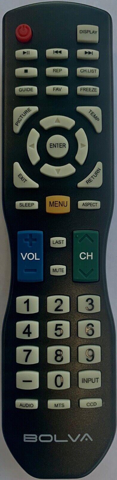 New Bolva TV Remote Control  for most of Bolva FHD TVs UHD 4K Curved Smart TVs