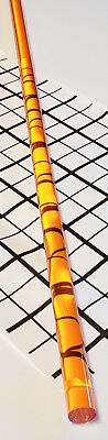 1 Pc 12 X 36 Inch Long Clear Amber Acrylic Plexiglass Color Rod .5 Diameter