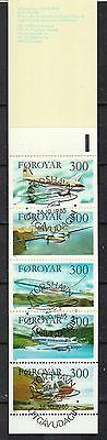 Färöer gestempelt 1985 Markenheft  MiNr. 3  Inhalt MiNr. 126-129 Flugzeuge