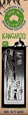 Bookmark Book Mark Stainless Steel Metal Australia Made Animal Kangaroo Silver