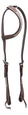 D.A. Brand Latigo Leather One Ear Headstall Rawhide Arrows Trim Horse Tack