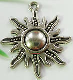 Free Shipping 40pcs tibetan silver flower Charms 28x25mm