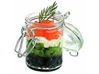 Mini Clip Lid Kilner Mason Jars storage for buffet or crafts