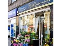 Williamson Design Florist Edinburgh are looking for a full time florist