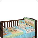 Brand New Living Textiles Hopscotch Collection 6 Piece Cot Linen Set