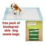 150 LARGE 60 x 40 CM  PUPPY TRAINER TRAINING PADS TOILET WEE
