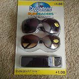 2 pairs of Coppertone sunreaders +1.00 new unopened