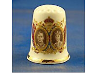 George VI and Elizabeth collectable thimble