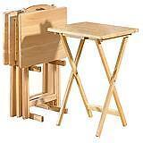 2 petites table, pliables+1 petite table en vitre+1 petite noir
