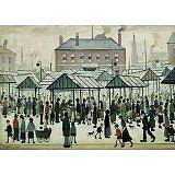 Wentworth New Jigsaw Puzzle 250 Pieces Lowry - Market Scene - Made in England