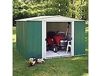 8 x 6 Greenvale Metal Apex Shed. New. Flatpack. PICK UP TODAY.