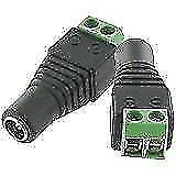 FEMALE JACK 5.5MM X 2.1MM 2.1 DC POWER CONNECTOR ADAPTER FOR CCTV CAMERA