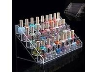 5 Tiers Clear Acrylic Makeup Cosmetic Nail Polish Varnish Display Stand Organiser