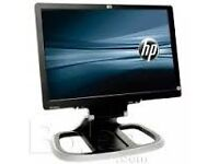 Hewlett-Packard 19 inch Wide Screen Computer LCD Monitor, with power and data cable. Scratch free.